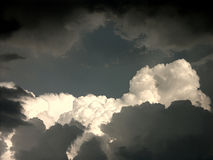 Heavy clouds. Heavy storm is coming stock photography
