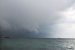 Heavy clouds above beach before the storm Thailand Koh LARN Stock Photo