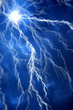 Heavy clouds bringing thunder, lightnings and storm. Royalty Free Stock Image