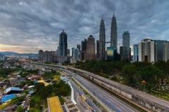Heavy clouds at Kuala Lumpur city. Stock Photography