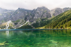 Heavy clouds over Morkie Oko Lake Royalty Free Stock Image
