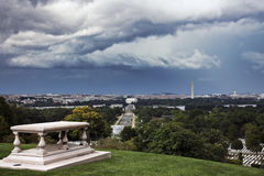 Heavy clouds over Washington Royalty Free Stock Photography