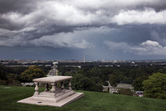 Heavy clouds over Washington Stock Image