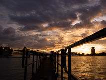 Heavy clouds skyline Amsterdam royalty free stock image