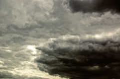 Heavy clouds Stock Photography