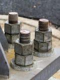 Heavy Construction Bolts Stock Photo