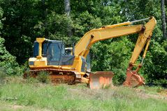 Heavy construction digger Royalty Free Stock Photos