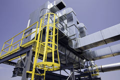 Heavy construction dust collector. Collects dust produced by saws and machining equipment Stock Photos