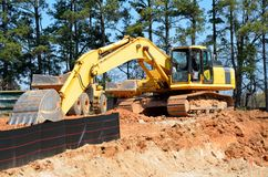 Heavy construction equipment Royalty Free Stock Image