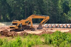 Heavy construction equipment Stock Images