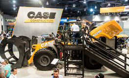 Heavy construction equipment display at Con Expo Royalty Free Stock Photos