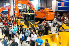 Heavy construction equipment display at Con Expo Stock Photography