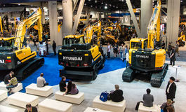 Heavy construction equipment display at Con Expo Royalty Free Stock Images