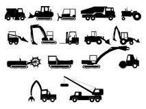 Heavy construction machines illustrations. Heavy construction machines vector illustrations vector illustration