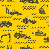 Heavy construction machines seamless pattern Royalty Free Stock Photos