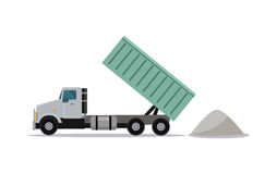 Heavy Construction Tipper With Raised Container Royalty Free Stock Photography