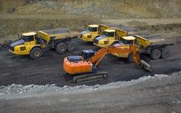 Heavy construction vehicles Stock Photo