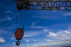 Heavy Crane Arm Hook Royalty Free Stock Photography