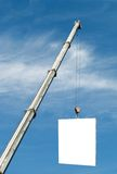 Heavy crane with free ad space. Transportation business Stock Image