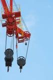 Heavy Crane Pulleys Stock Photo