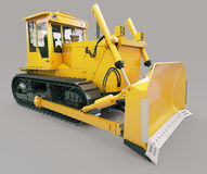 Heavy crawler bulldozer Stock Photography