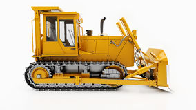 Heavy crawler bulldozer Royalty Free Stock Images