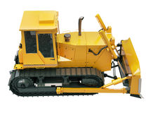 Heavy crawler bulldozer  isolated Royalty Free Stock Image