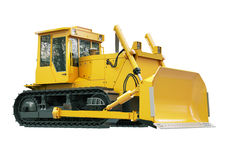 Heavy crawler bulldozer  isolated Stock Photos