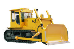 Heavy crawler bulldozer  isolated Stock Images