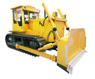 Heavy crawler bulldozer  isolated Stock Photo