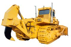 Heavy crawler bulldozer Royalty Free Stock Photography