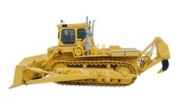 Heavy crawler bulldozer Royalty Free Stock Image