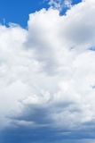 Heavy cumulus clouds in blue sky Royalty Free Stock Photography