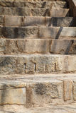 Heavy Cut Granite Block Steps Stock Photo