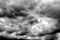 Heavy dark clouds, thunderstorm clouds texture. suitable as an a. Bstract background Stock Images