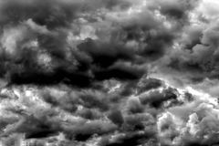 Heavy dark clouds, thunderstorm clouds texture. suitable as an a Royalty Free Stock Photos