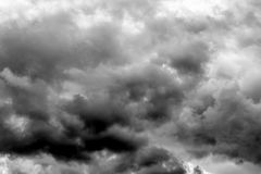 Heavy dark clouds, thunderstorm clouds texture. Suitable as an a Stock Photos
