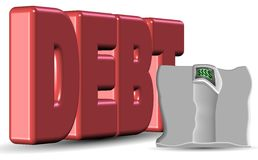 Heavy debt Royalty Free Stock Photos