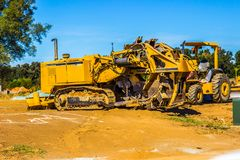 Heavy Digging Equipment & Tractor royalty free stock image