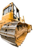 The heavy dirty building bulldozer of yellow color Stock Images