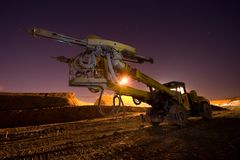 Heavy Drilling Machine Royalty Free Stock Photography