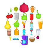 Heavy drinking icons set, cartoon style. Heavy drinking icons set. Cartoon set of 25 heavy drinking vector icons for web isolated on white background Stock Image