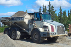 A heavy dump-truck at a quarry in the yukon Royalty Free Stock Images