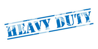 Heavy duty blue stamp Stock Photos