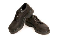 Heavy duty boots isolated Stock Photos