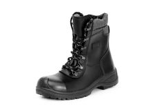 Heavy duty boots isolated Royalty Free Stock Images