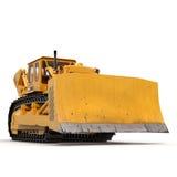 Heavy duty bulldozer isolated on white 3D Illustration Stock Photos