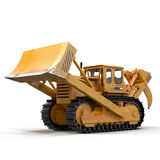 Heavy duty bulldozer isolated on white 3D Illustration Royalty Free Stock Image
