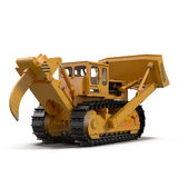 Heavy duty bulldozer isolated on white 3D Illustration Royalty Free Stock Photo