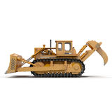 Heavy duty bulldozer isolated on white 3D Illustration. Heavy duty bulldozer isolated on white background 3D Illustration Royalty Free Stock Images